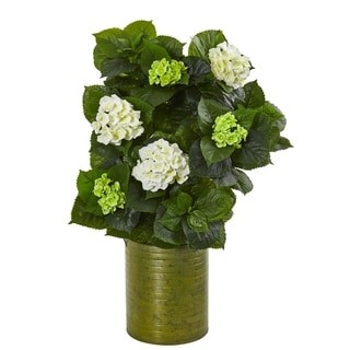 Nearly Natural 32-inch Hydrangea Artificial Plant