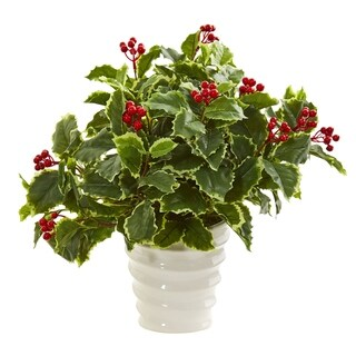 Nearly Natural Variegated Holly Artificial Plant