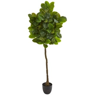 Nearly Natural Real Touch Rubber Leaf Artificial Tree