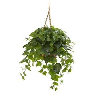 Nearly Natural Real Touch 38-inch London Ivy Artificial Plant in Hanging Basket
