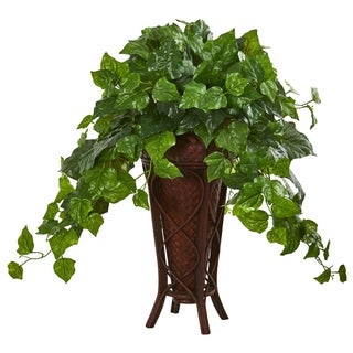Nearly Natural Real Touch London Ivy 32-inch Artificial Plant in Decorative Planter