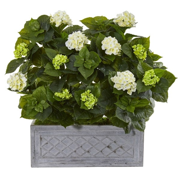 Nearly Natural 33-inch Hydrangea Artificial Plant