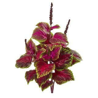 Nearly Natural 23-inch Coleus Bush Artificial Plant (Set of 6)