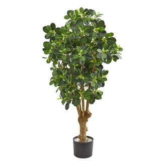 Nearly Natural Panda Ficus Green/Brown 3-inch Artificial Tree