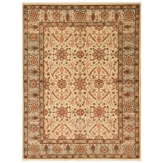 Handmade Vegetable Dye Oushak Wool Rug (Afghanistan) - 5' x 6'9