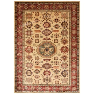 Handmade Super Kazak Wool Rug (Afghanistan) - 5'6 x 7'8