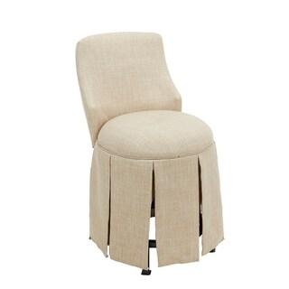 Sullivan Skirted Swivel Vanity Chair with Back