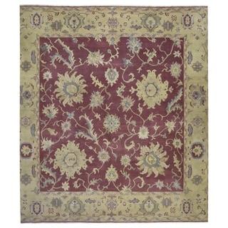 "Handmade Fine Oriental Peshawar Square Rug - 10'1"" x 10'2"""