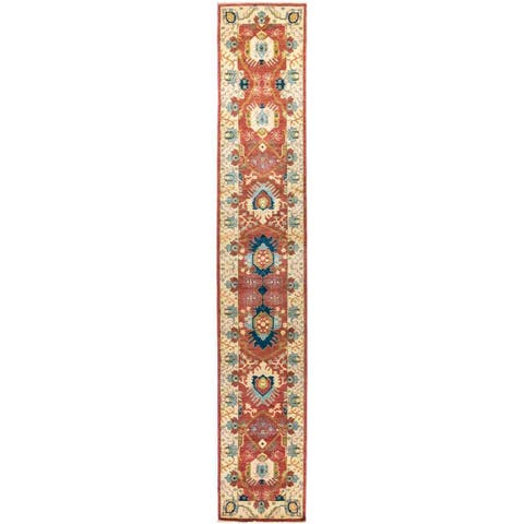 """Eclectic, Hand Knotted Area Rug - 2' 8"""" x 16' 3"""" - 2' 8"""" x 16' 3"""""""
