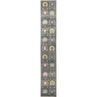 """Suzani, Hand Knotted Area Rug -  2' 7"""" x 16' 8"""" - 2'7"""" x 16'8"""" Runner"""