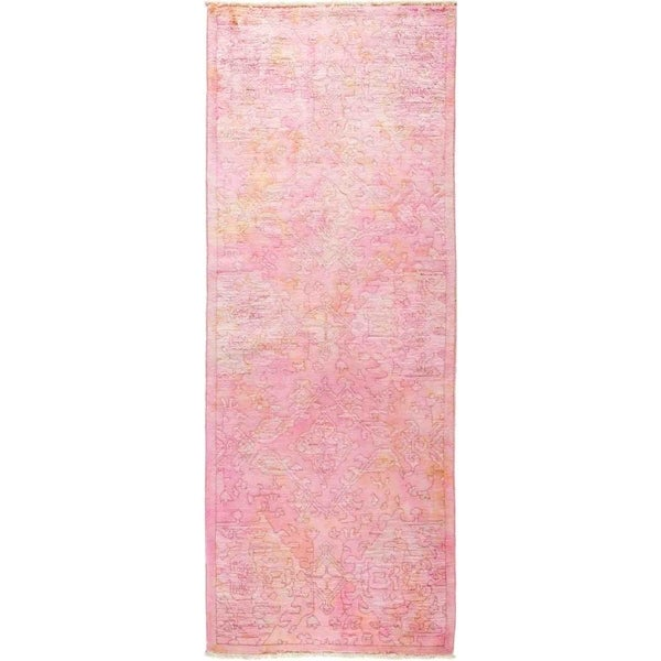 """Vibrance, Hand Knotted Area Rug - 3' 2"""" x 8' 3"""" - 3'2"""" x 8'3"""" Runner"""