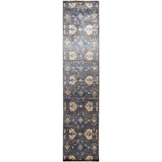 """Eclectic, Hand Knotted Area Rug -  3' 0"""" x 12' 5"""" - 3' x 12'5"""" Runner"""