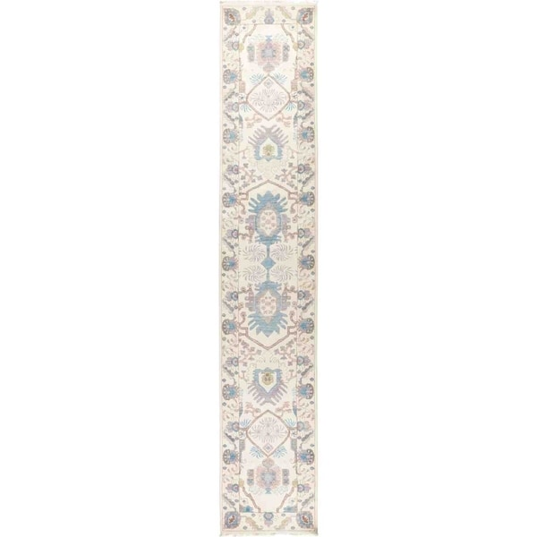 """Eclectic, Hand Knotted Area Rug - 2' 7"""" x 14' 3"""" - 2'7"""" x 14'3"""" Runner"""