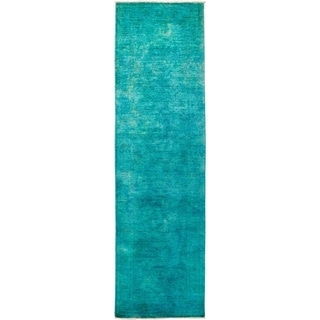 """Vibrance, Hand Knotted Area Rug - 2' 10"""" x 10' 4"""" - 2'10"""" x 10'4"""" Runner"""