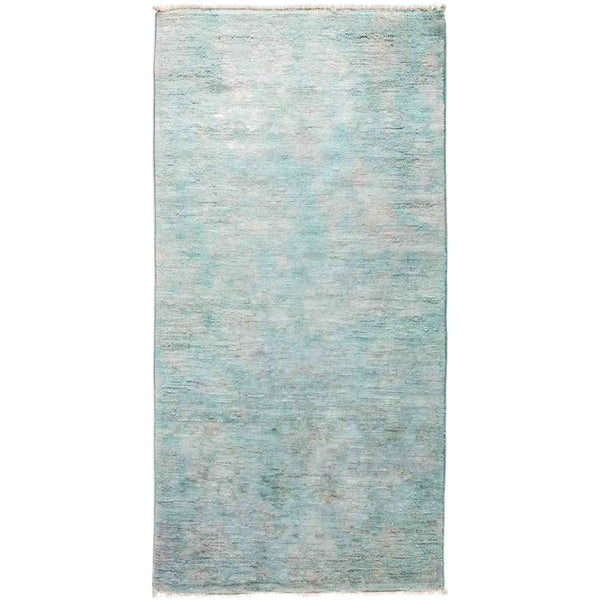 """Vibrance, Hand Knotted Area Rug - 3' 0"""" x 6' 0"""" - 3' x 6' Runner"""