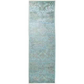 """Vibrance, Hand Knotted Area Rug -  3' 1"""" x 10' 1"""" - 3'1"""" x 10'1"""" Runner"""