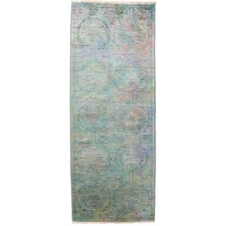 """Vibrance, Hand Knotted Area Rug -  2' 7"""" x 7' 2"""" - 2'7"""" x 7'2"""" Runner"""