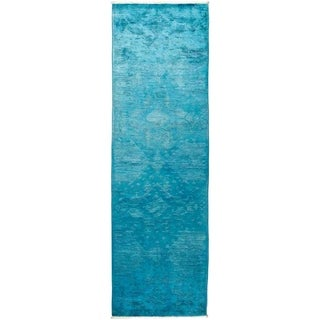 """Vibrance, Hand Knotted Area Rug -  3' 0"""" x 10' 1"""" - 3' x 10'1"""" Runner"""