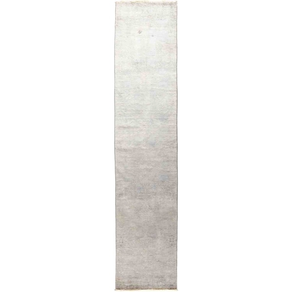 "Vibrance, Hand Knotted Area Rug - 2' 7"" x 12' 4"" - 2'7"" x 12'4"" Runner"