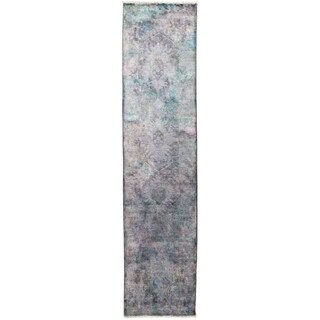 "Vibrance, Hand Knotted Area Rug -  2' 7"" x 10' 2"" - 2'7"" x 10'2"" Runner"