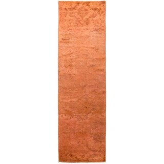 """Vibrance, Hand Knotted Area Rug -  3' 1"""" x 10' 8"""" - 3'1"""" x 10'8"""" Runner"""