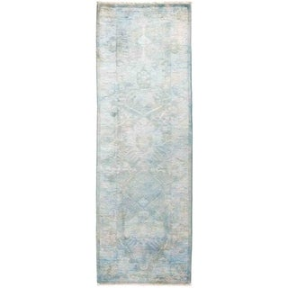 """Vibrance, Hand Knotted Area Rug -  2' 7"""" x 8' 0"""" - 2'7"""" x 8' Runner"""