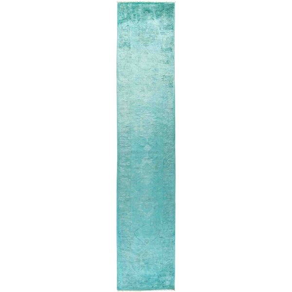 """Vibrance, Hand Knotted Area Rug - 2' 8"""" x 13' 10"""" - 2'8"""" x 13'10"""" Runner"""