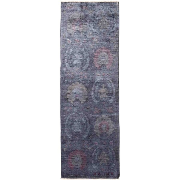 "Vibrance, Hand Knotted Area Rug - 2' 6"" x 8' 2"" - 2'6"" x 8'2"" Runner"