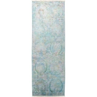 """Vibrance, Hand Knotted Area Rug -  2' 7"""" x 8' 2"""" - 2'7"""" x 8'2"""" Runner"""