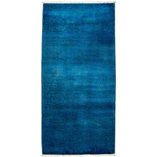 """Vibrance, Hand Knotted Area Rug -  2' 7"""" x 5' 8"""" - 2'7"""" x 5'8"""" Runner"""
