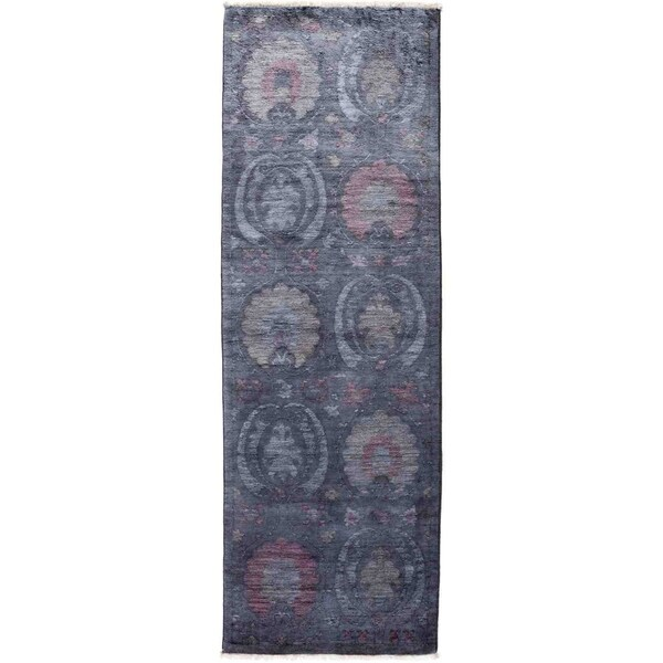 """Vibrance, Hand Knotted Area Rug - 2' 9"""" x 8' 2"""" - 2'9"""" x 8'2"""" Runner"""
