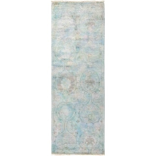 """Vibrance, Hand Knotted Area Rug -  2' 7"""" x 7' 7"""" - 2'7"""" x 7'7"""" Runner"""