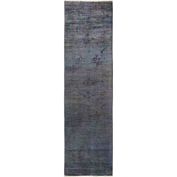 """Vibrance, Hand Knotted Area Rug - 2' 7"""" x 9' 7"""" - 2'7"""" x 9'7"""" Runner"""