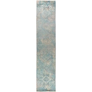 "Vibrance, Hand Knotted Area Rug -  2' 7"" x 12' 6"" - 2'7"" x 12'6"" Runner"