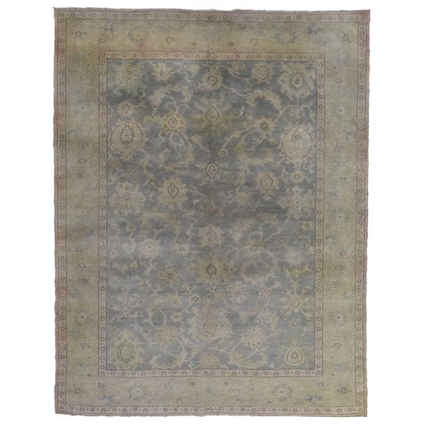 "Handmade Oriental Oushak Rug - 6'7"" x 8'5"""