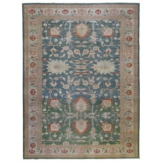 """Hand-knotted Oushak Oriental Area Rug - 10'2"""" x 13'7"""""""