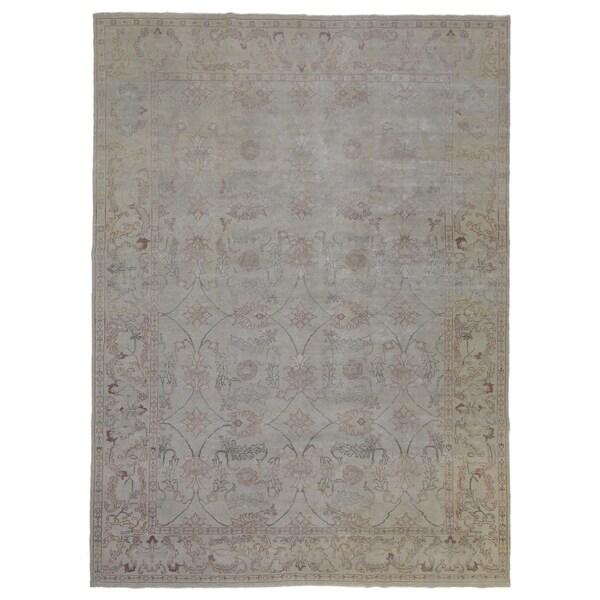 "FineRugCollection Oushak Wool Area Rug - 9'10"" x 13'3"""