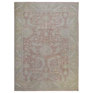 """Hand-knotted Fine Wool Peshawar Area Rug - 9'4"""" x 11'10"""""""