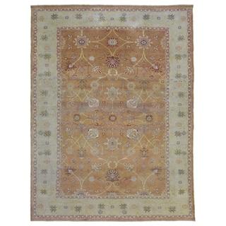 "One-of-A-Kind Handmade Oushak Wool Oriental Rug - 8'11"" x 11'10"""