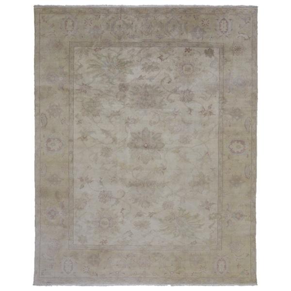 "One-of-A-Kind Handmade Oushak Wool Area Rug - 8'4"" x 10'"
