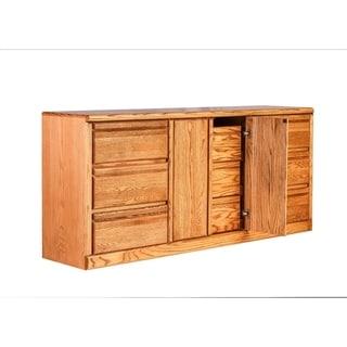 Bullnose Nine Drawer Dresser 72W X 32H X 18D (Three Hidden Drawers)