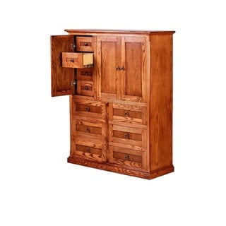 Link to Mission Ten Drawer Armoire 46W x 60H x 18D - 46w x 60h x 18d - 46w x 60h x 18d Similar Items in Bedroom Furniture