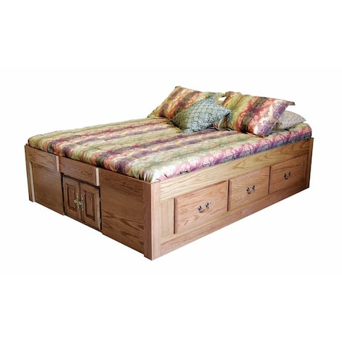 Traditional Platform Bed 63W x 20H x 83D