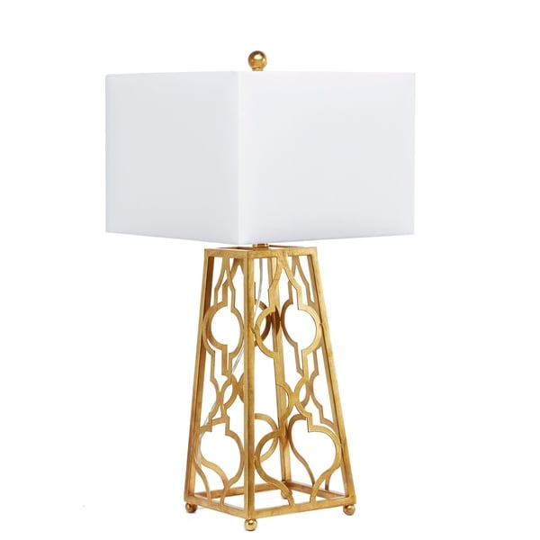 Shop Quatrefoil Square Base Table Lamp Free Shipping Today