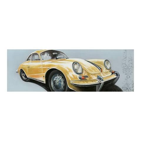 Aurelle Home Vintage Porsche Car Painting Wall Decor - Multi-color