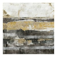Aurelle Home Black and Grey Abstract Transitional Wall Decor - Multi-color