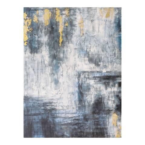 Aurelle Home Shade of Blue Contemporary Wall Decor - Multi-color