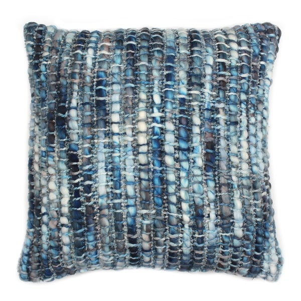 Aurelle Home Soft Transitional Acrylic/Cotton/Wool 20-inch Decorative Throw Pillow
