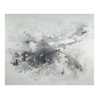 Aurelle Home Transitional Abstract Oil On Canvas Wall Decor - Multi-color