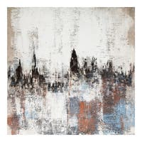 Aurelle Home Transitional Abstract Oil On Canvas Wall Decor
